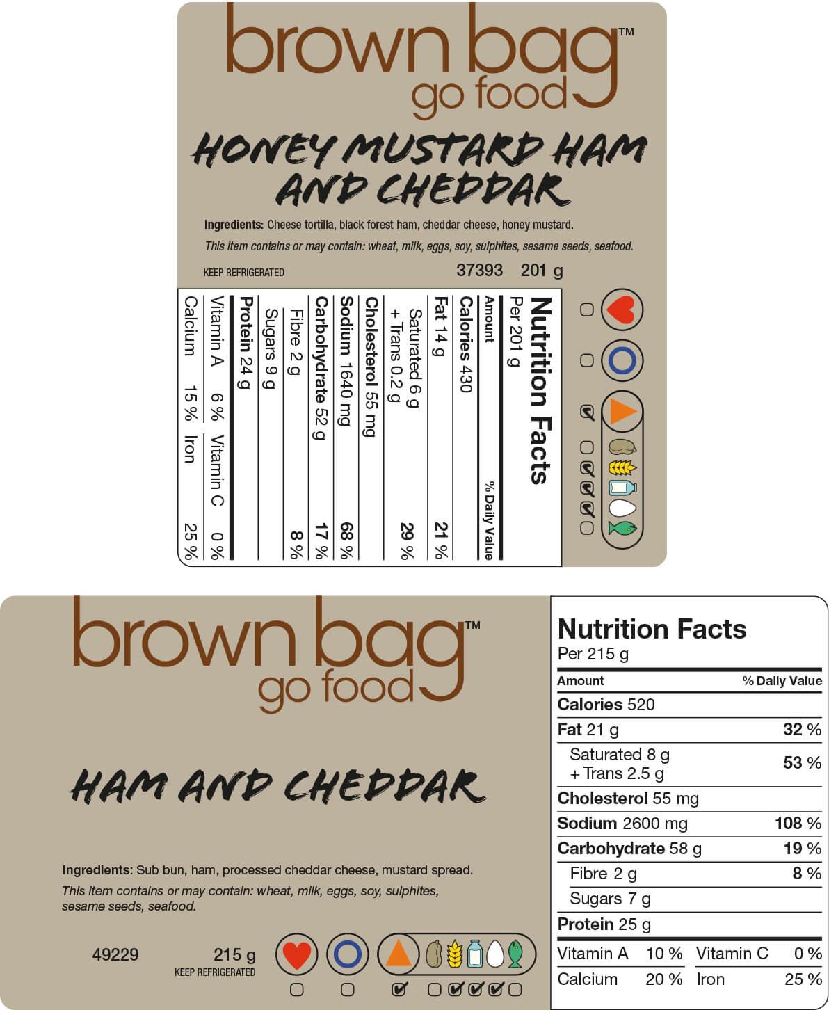 Brown Bag Labels