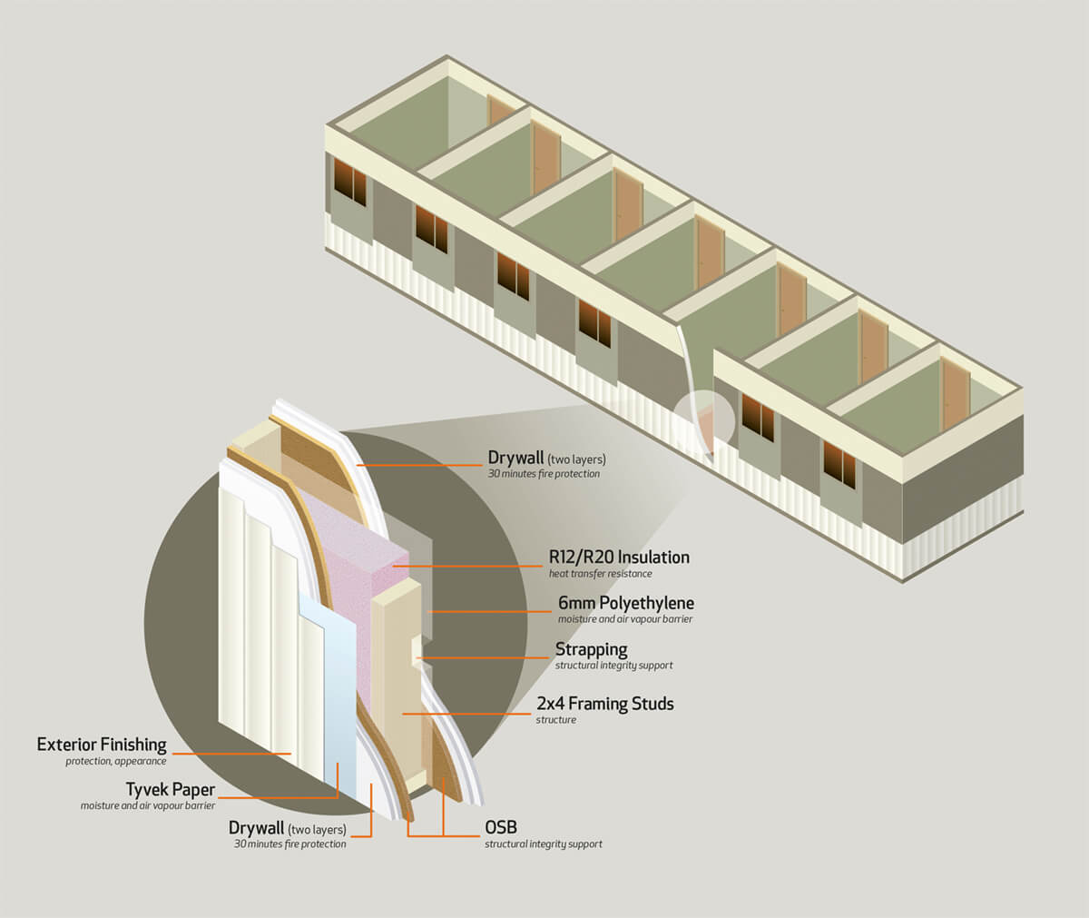 Wall Cutaway Illustration